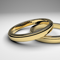 二つの金の指輪
